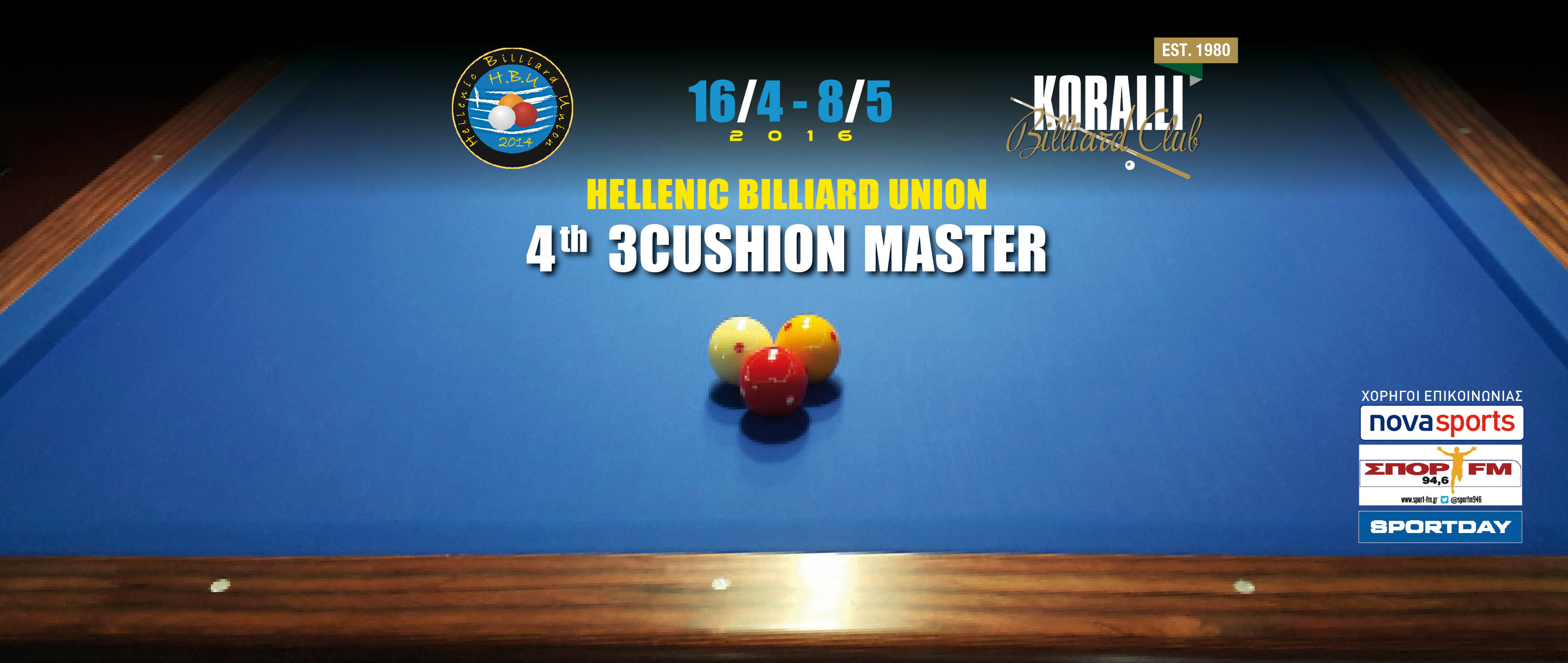1st 3 Cushion Open Tournament 2015
